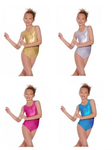 Roch Valley Sleeveless Tank Leotard Sheree Metallic Nylon Lycra Dance Gymnastics